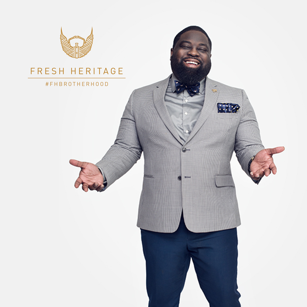 African American Men Advertise Beard Oil - Stephen Wilson Photography - Fashion  - Fresh Heritage - Atlanta -
